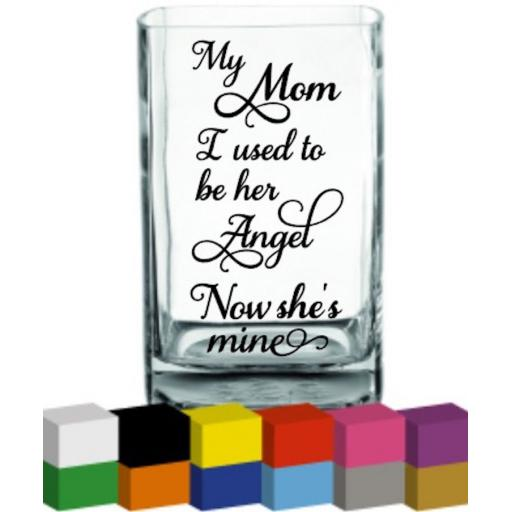My Mom I used to her Angel Vase Decal / Sticker / Graphic
