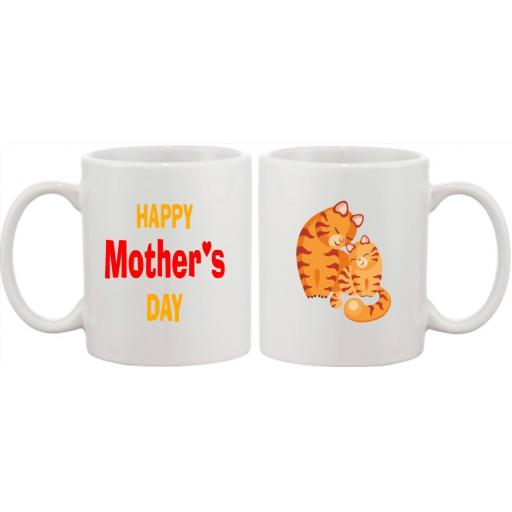 Happy Mother's Day Mug with choice of Cat or Dog