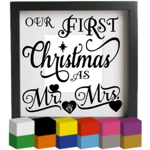 Our First Christmas Vinyl Glass Block / Photo Frame Decal / Sticker / Graphic