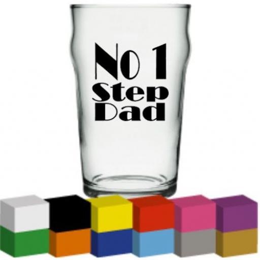 No 1 Step Dad Glass / Mug / Cup Decal / Sticker / Graphic