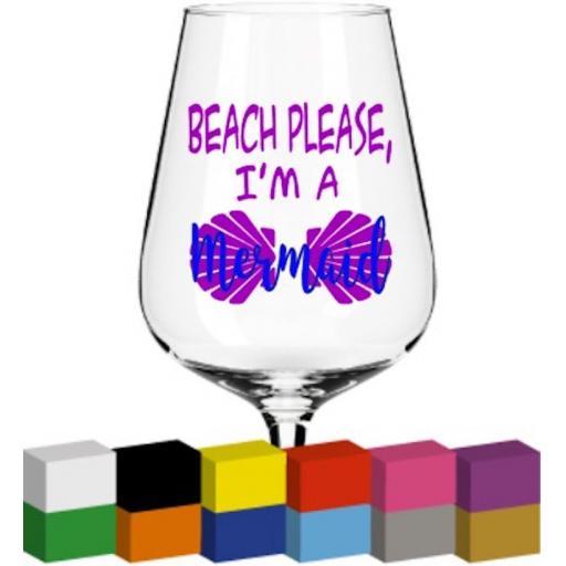 Beach Please Glass / Mug / Cup Decal / Sticker / Graphic