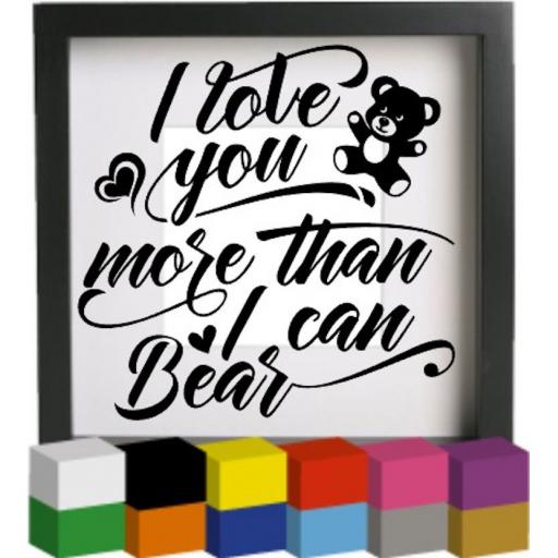I love you more Vinyl Glass Block / Photo Frame Decal / Sticker / Graphic