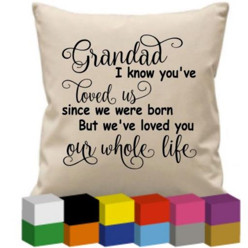 Cushion Cover with Grandad I know you've (Personalised)