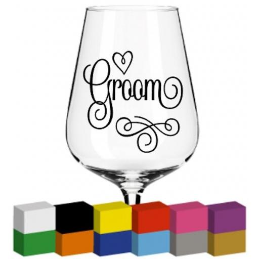 Groom word Glass / Mug / Cup Decal / Sticker / Graphic