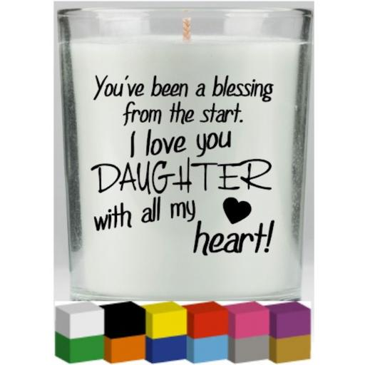 You've been a blessing Candle Decal / Sticker / Graphic