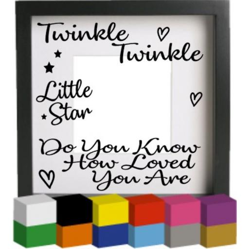 Twinkle Twinkle V4 Vinyl Glass Block / Photo Frame Decal / Sticker / Graphic