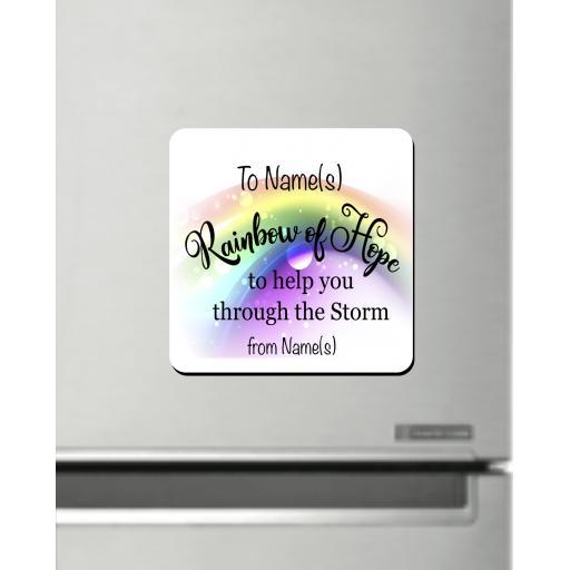 Rainbow of Hope Fridge Magnet