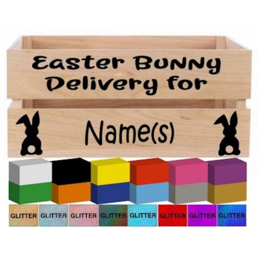 Easter Bunny Delivery Box Vinyl Personalised, Decal / Sticker