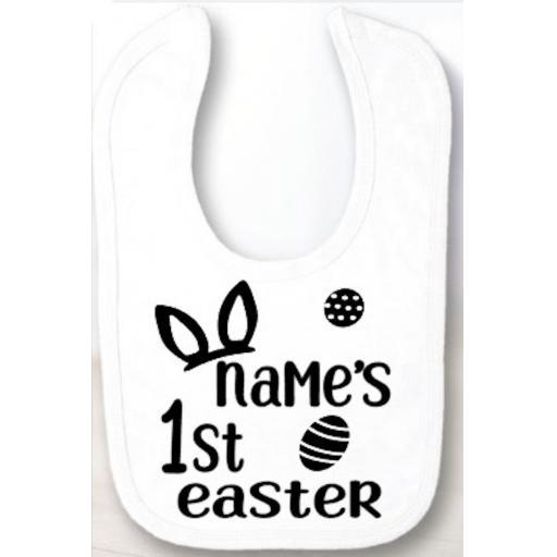 Name's 1st Easter Velcro Baby Bib