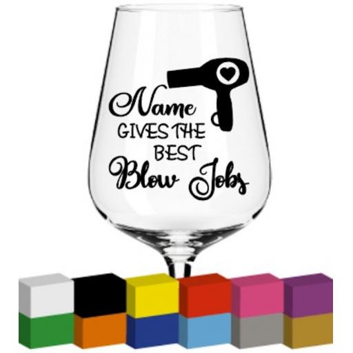 Name Gives the best Personalised Glass / Mug / Cup Decal / Sticker / Graphic