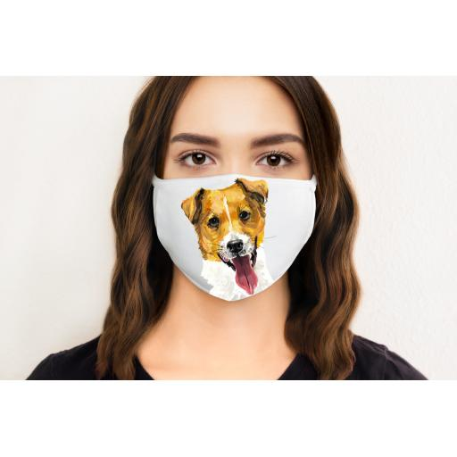 Jack Russell Dog Face Mask