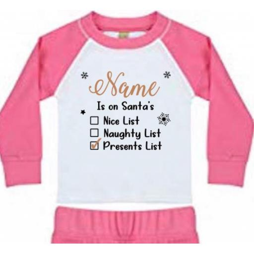 Is on Santa's List (Personalised) Heat Transfer Vinyl