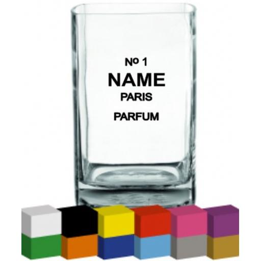 No 1 Personalised Vase Decal / Sticker / Graphic
