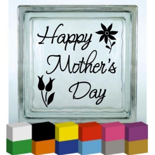 Happy Mother's Day Vinyl Glass Block / Photo Frame Decal / Sticker / Graphic