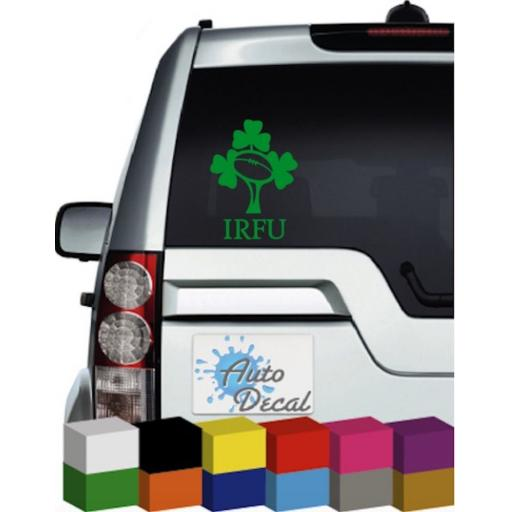 Irish Rugby Vinyl Car Window, Bumper Decal / Sticker / Graphic