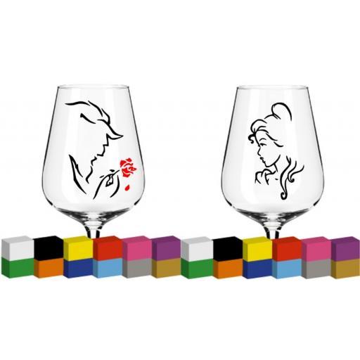 Beauty - Beast Glass / Mug / Cup Decal / Sticker / Graphic