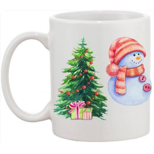 Christmas Eve Snowman Personalised Mug