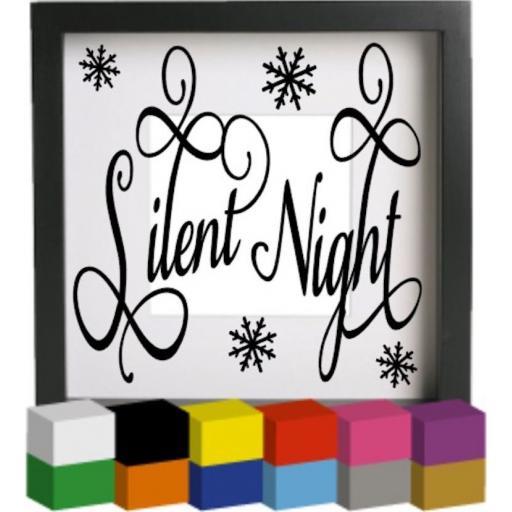 Silent Night Vinyl Glass Block / Photo Frame Decal / Sticker / Graphic