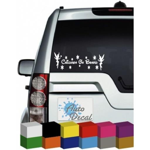 Children On Board Vinyl Car Window, Bumper Sticker / Graphic