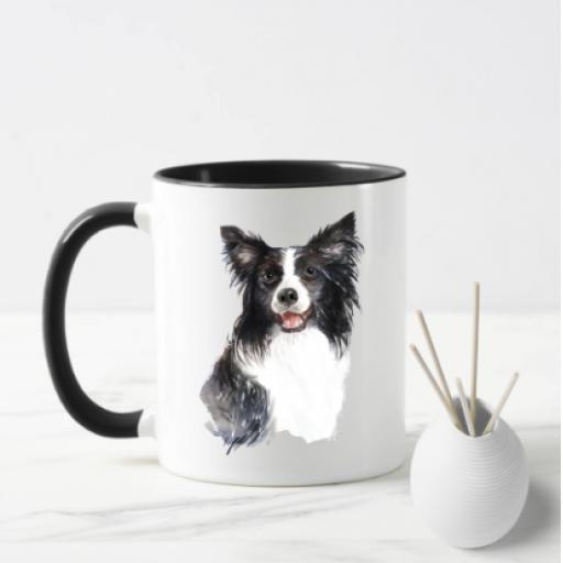 Border Collie V2 Dog Mug