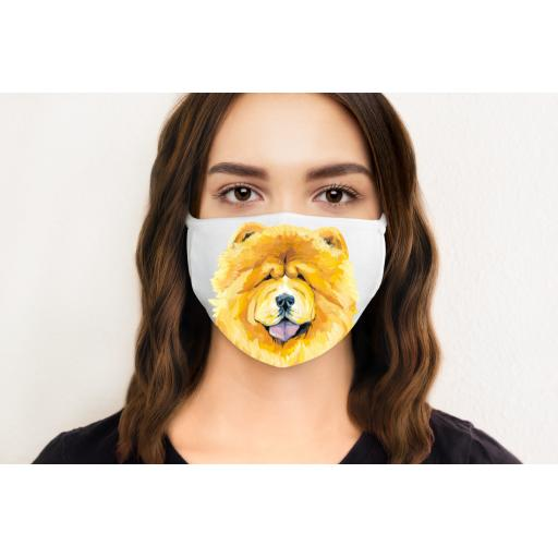 Chow Chow Dog Face Mask