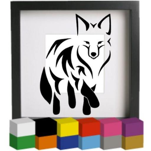 Fox Vinyl Glass Block / Photo Frame Decal / Sticker / Graphic