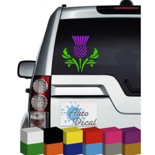 Scottish Thistle 2 colour (Scotland) Vinyl Car Window Decal / Sticker / Graphic
