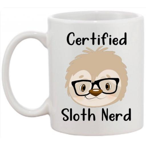 Certified Sloth Nerd Mug