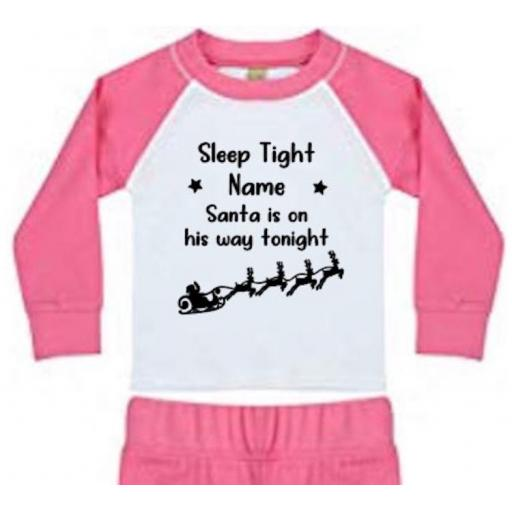 Sleep Tight Santa is on his way tonight (Personalised) Heat Transfer Vinyl