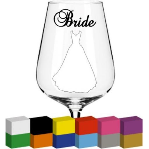 Bride / Role or Name Glass / Mug / Cup Decal / Sticker / Graphic