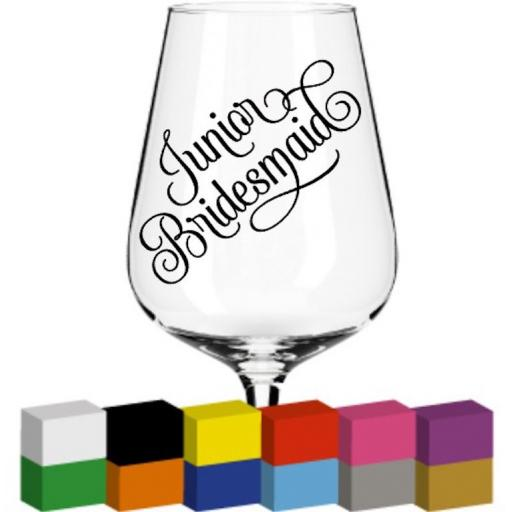 Junior Bridesmaid Glass / Mug / Cup Decal / Sticker / Graphic