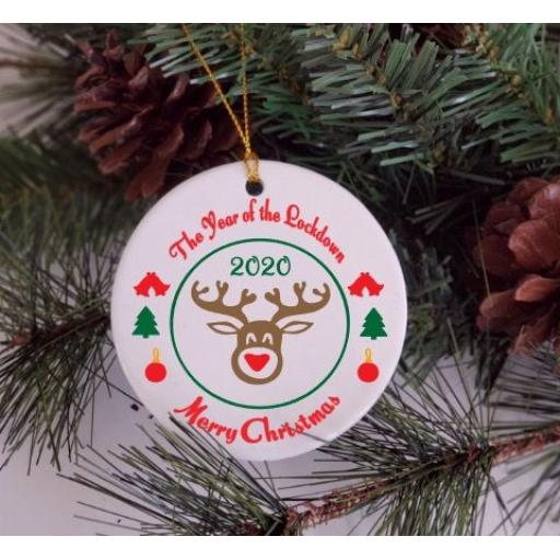 The Year of the Lockdown Christmas Ornament / Bauble
