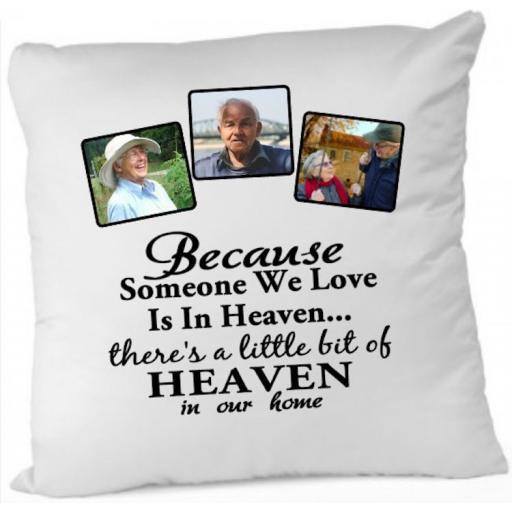 Because someone we love Photo Cushion Cover