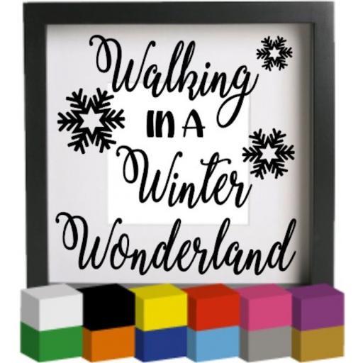 Walking in a Winter Wonderland Vinyl Glass Block / Photo Frame Decal / Sticker / Graphic