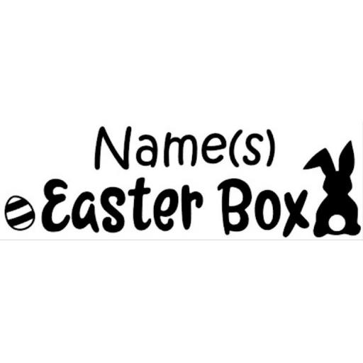 Easter Box Personalised Decal / Sticker/ Graphic