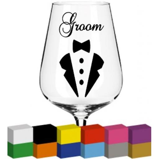 Groom Glass / Mug / Cup Decal / Sticker / Graphic