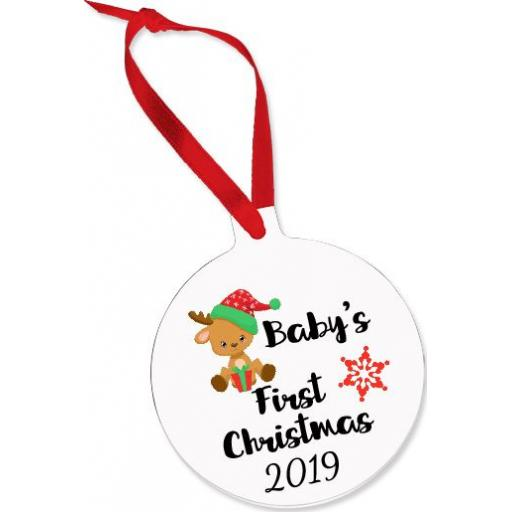 Baby's First Christmas Aluminium Ornament / Bauble