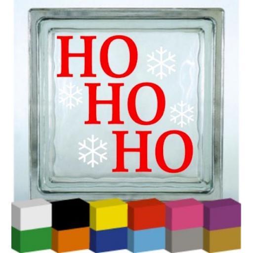 Ho Ho Ho Vinyl Glass Block Decal / Sticker / Graphic