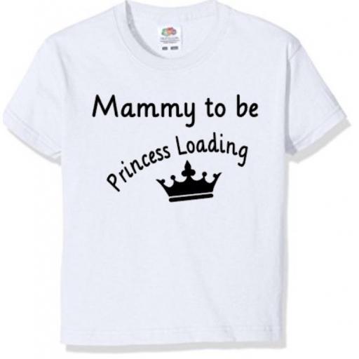 Mammy to be Princess loading.. Heat Transfer Vinyl