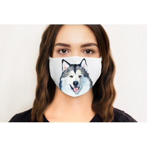 Malamute Dog Face Mask