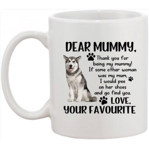Dear Mummy Dog Mug (personalised with breed)