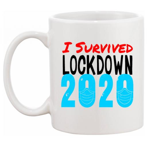 I Survived Lockdown 2020 Personalised Mug