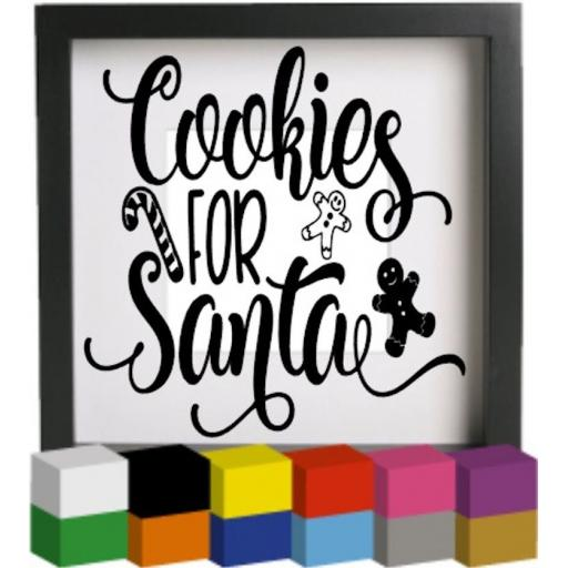 Cookies for Santa Vinyl Glass Block / Photo Frame Decal / Sticker / Graphic
