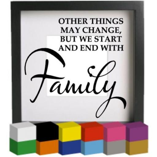 Other things may change Vinyl Glass Block / Photo Frame Decal / Sticker / Graphic