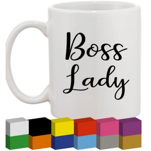 Boss Lady Glass / Mug / Cup Decal / Sticker / Graphic