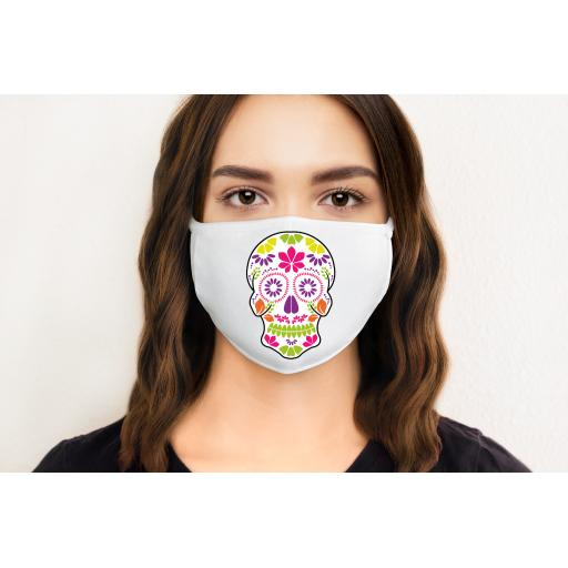 Sugar Skull 1 Face Mask