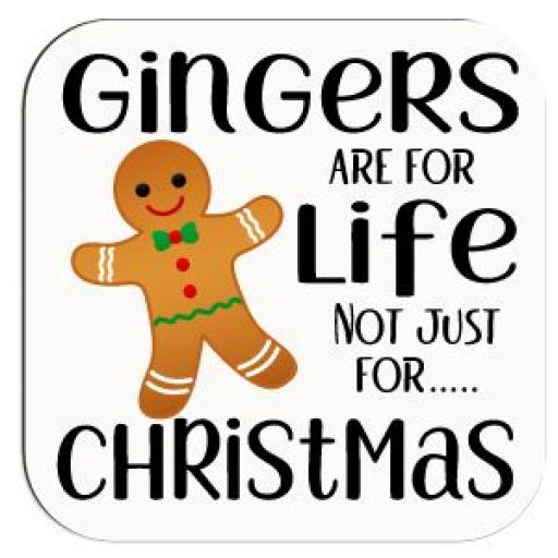 Gingers are for life not just for Christmas Coaster