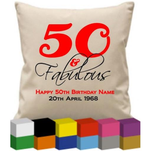Cushion Cover with Happy Number Birthday (personalised)