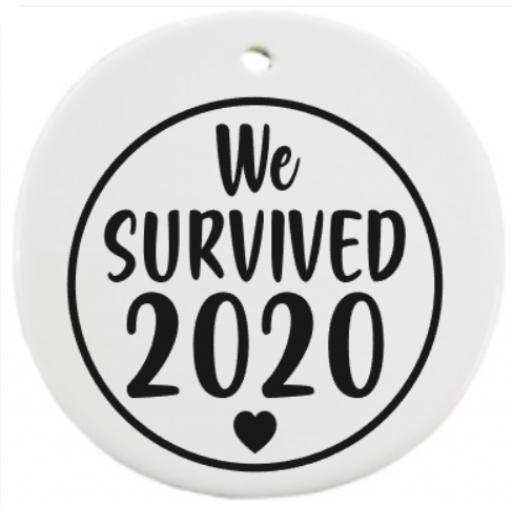 We survived 2020 Bauble Sticker / Decal / Graphic