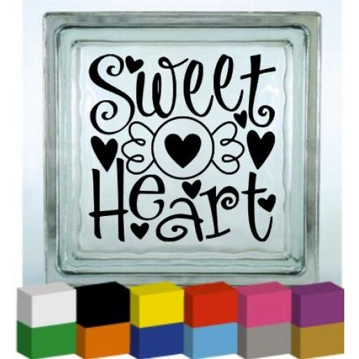 Sweet Heart Vinyl Glass Block / Photo Frame Decal / Sticker / Graphic